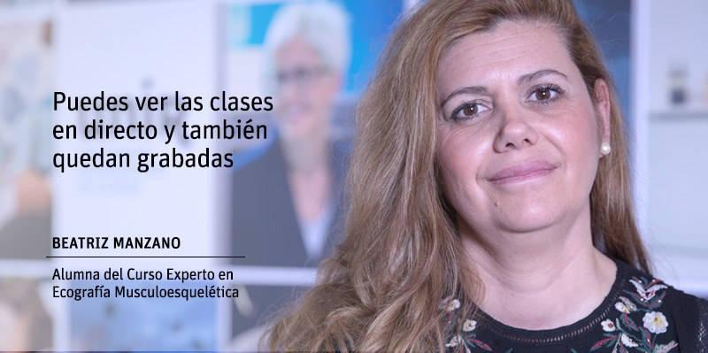 Beatriz Manzano - Experto Universitario en Ecografía Musculoesquelética