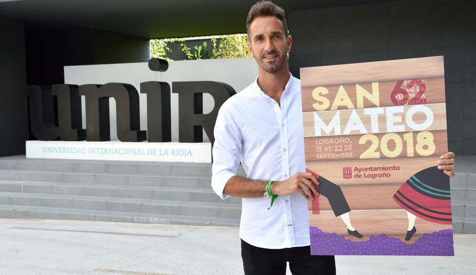Alberto Sesma, alumno de UNIR y ganador cartel San Mateo 2018