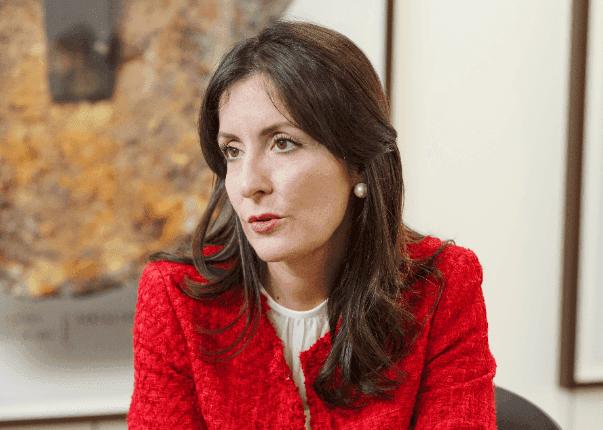 María, durante la entrevista en UNIR