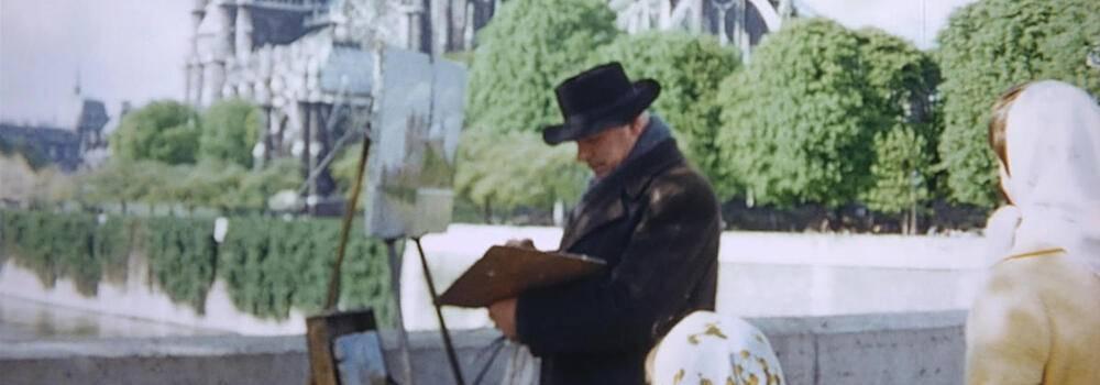 Cine español; My Mexican Bretzel, un hombre pintando delante de un castillo